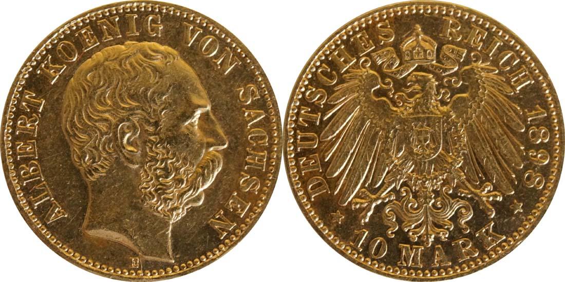 Lieferumfang:Deutschland : 10 Mark  winz. Kratzer 1898 vz.