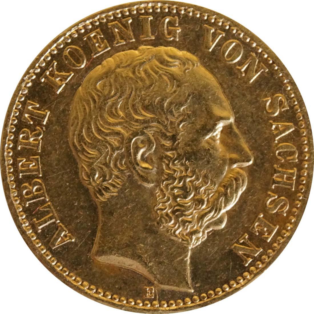 Vorderseite:Deutschland : 10 Mark  winz. Kratzer 1898 vz.