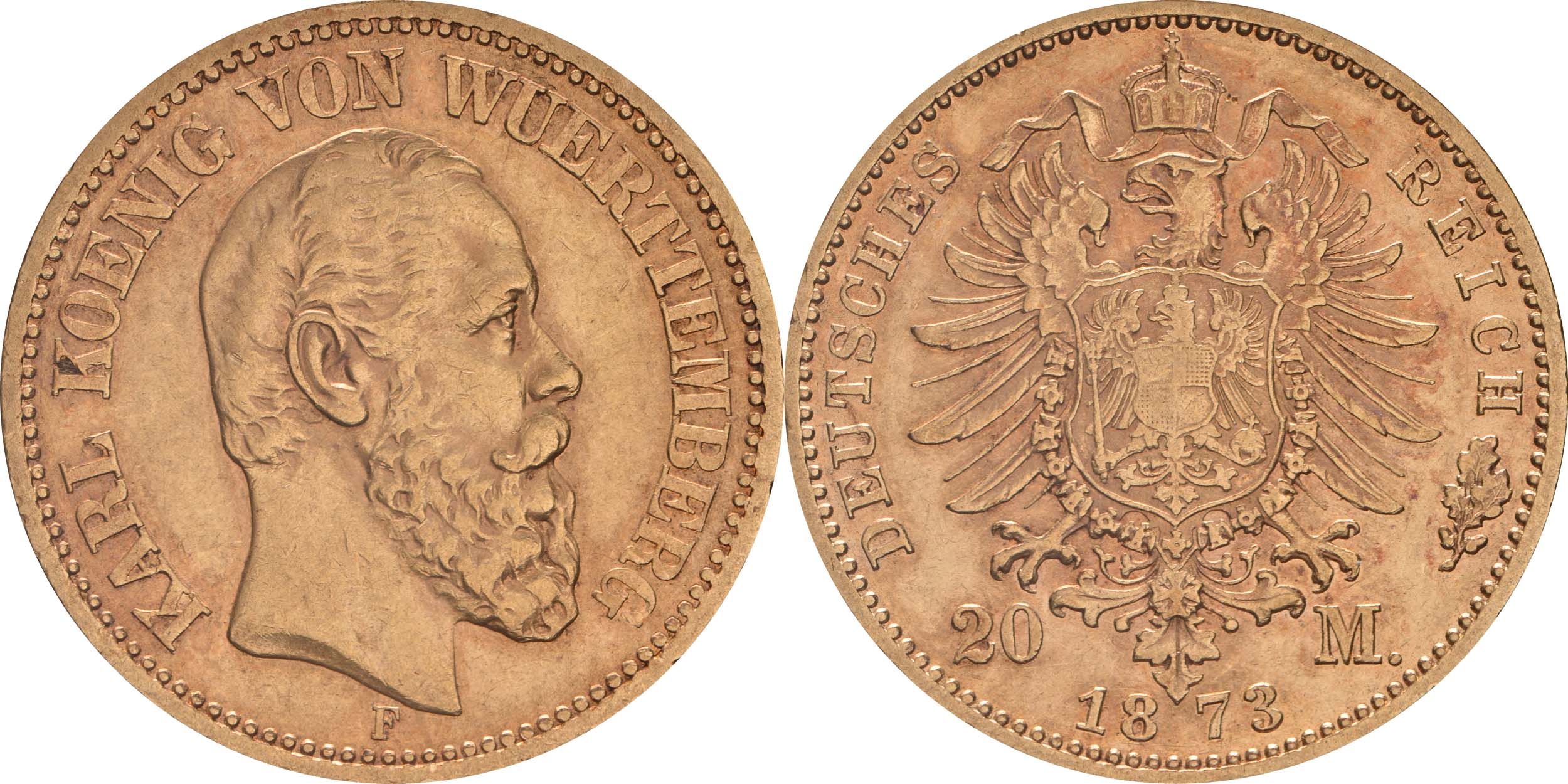 Lieferumfang:Deutschland : 20 Mark   1873 f.ss