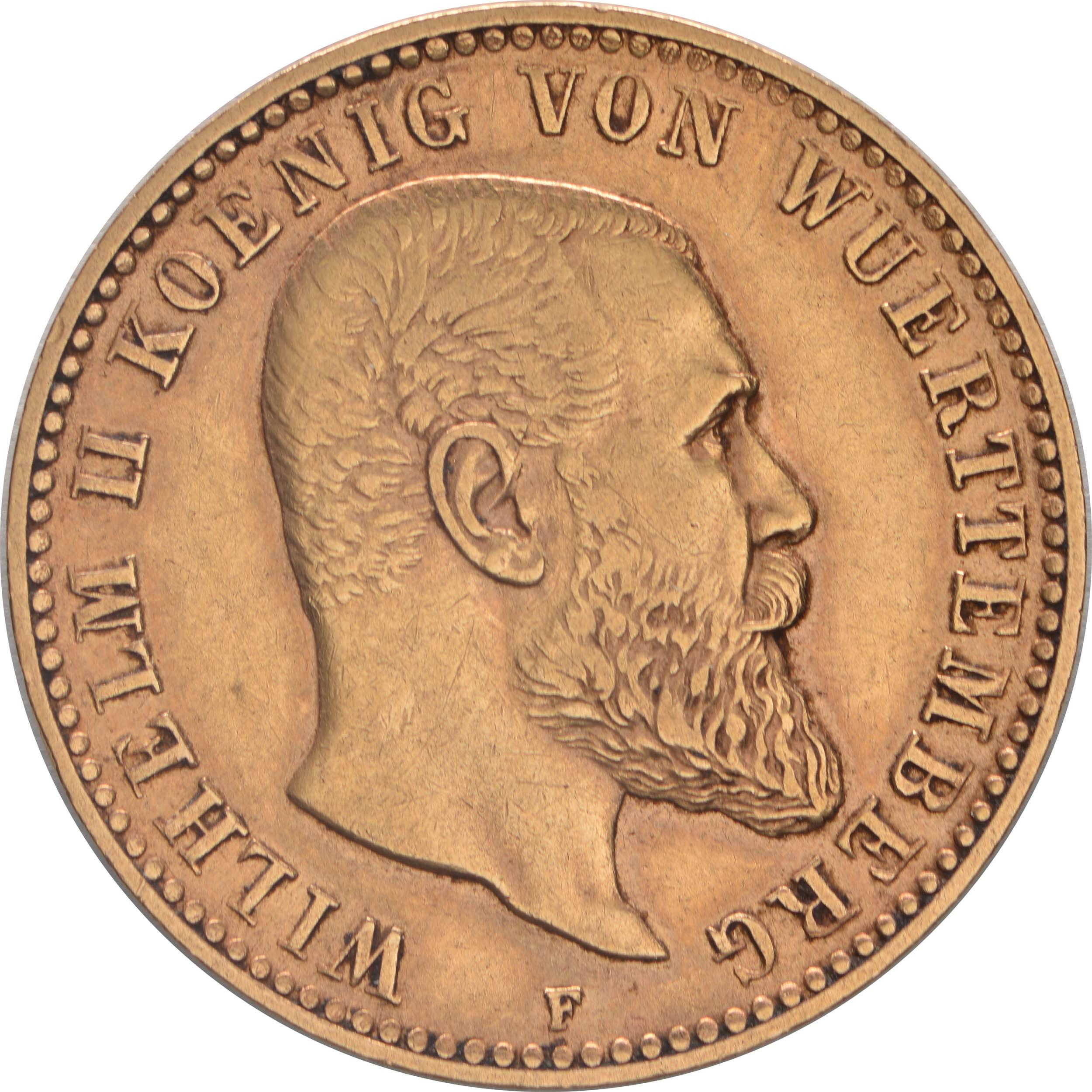 Vorderseite:Deutschland : 10 Mark  winz. Kratzer 1893 ss/vz.