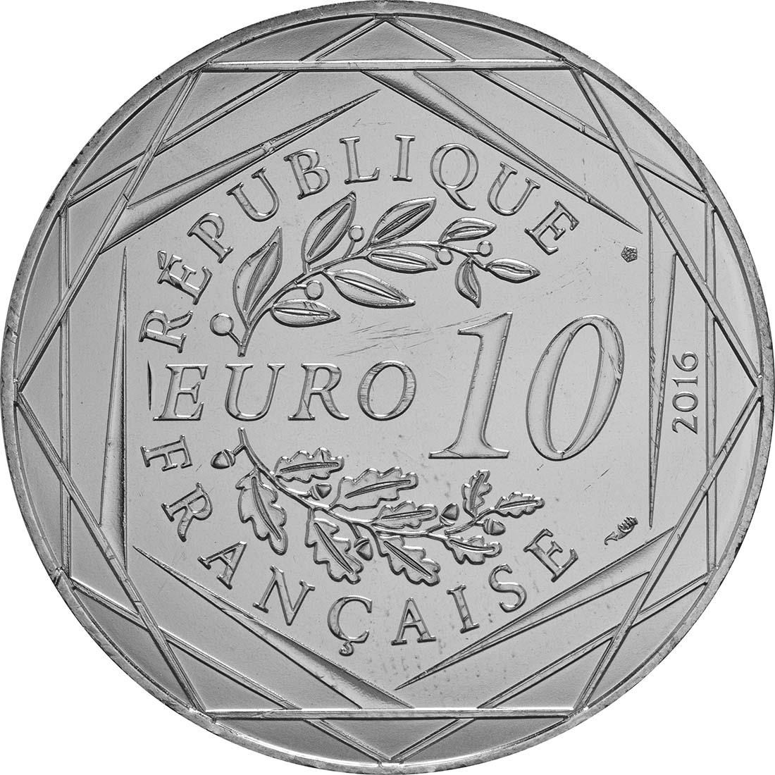 Rückseite:Frankreich : 10 Euro 16/24 Der kleine Prinz im Flugzeug  2016 bfr