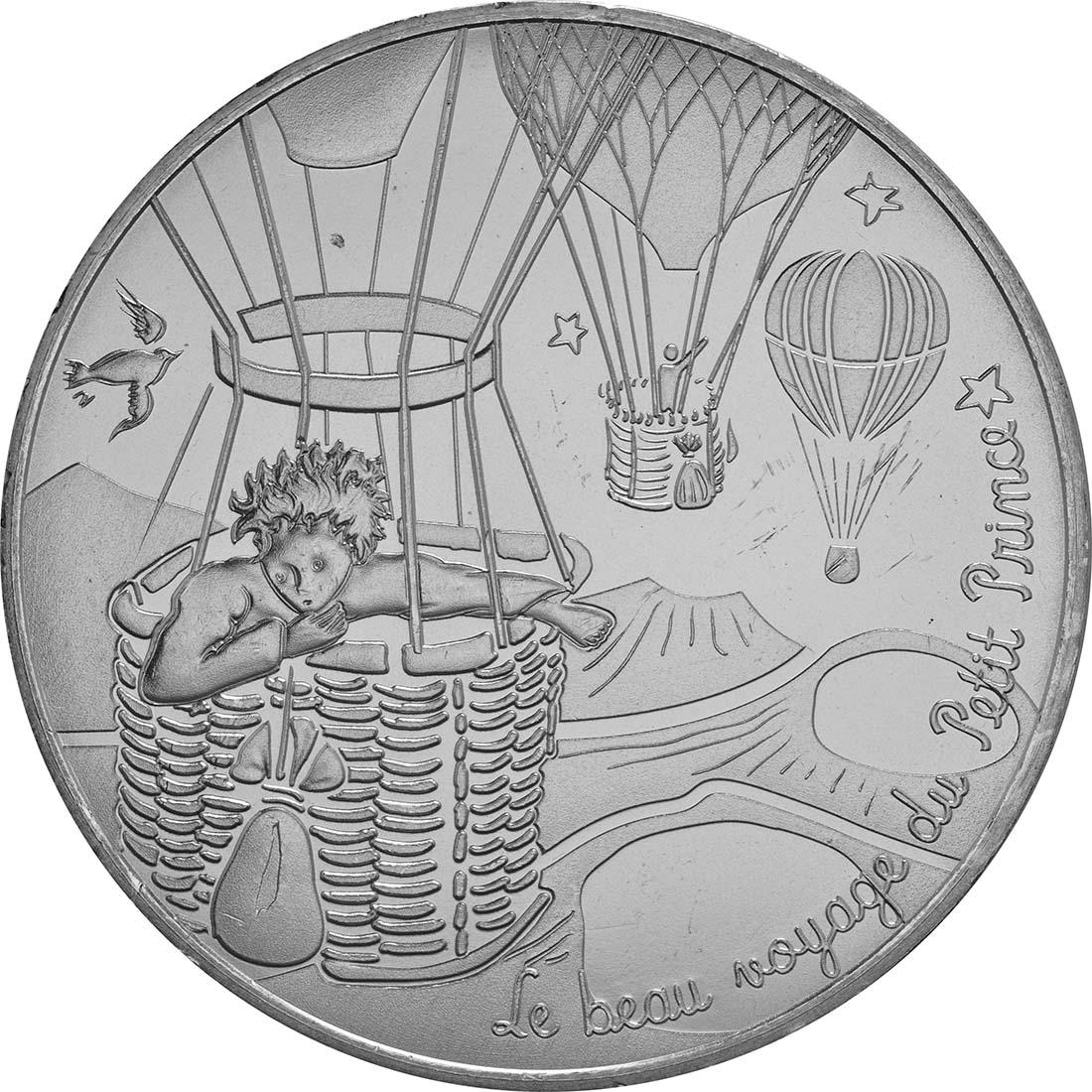Vorderseite:Frankreich : 10 Euro 18/24 Der kleine Prinz im Ballon  2016 bfr