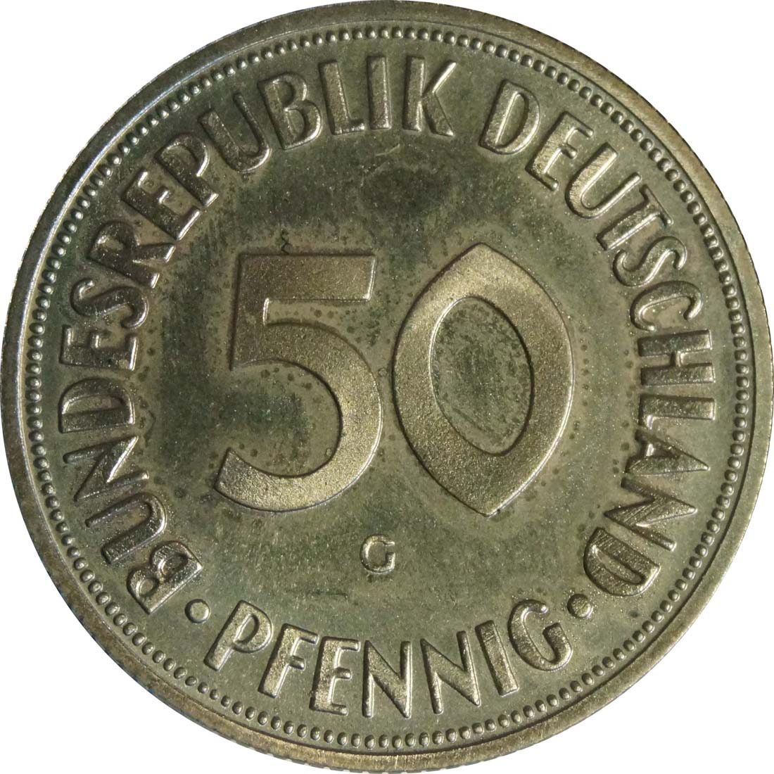 Vorderseite :Deutschland : 50 Pfennig Kursmünze  1967 PP