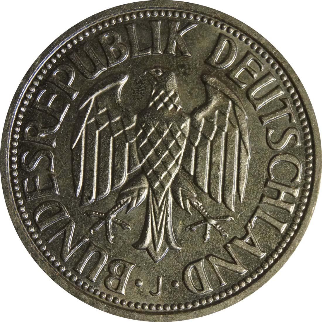 Rückseite:Deutschland : 1 DM Kursmünze -selten- 1955 vz/Stgl.