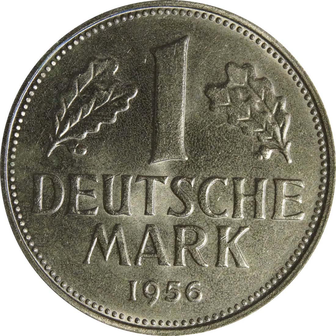 Vorderseite:Deutschland : 1 DM Kursmünze  1956 bfr
