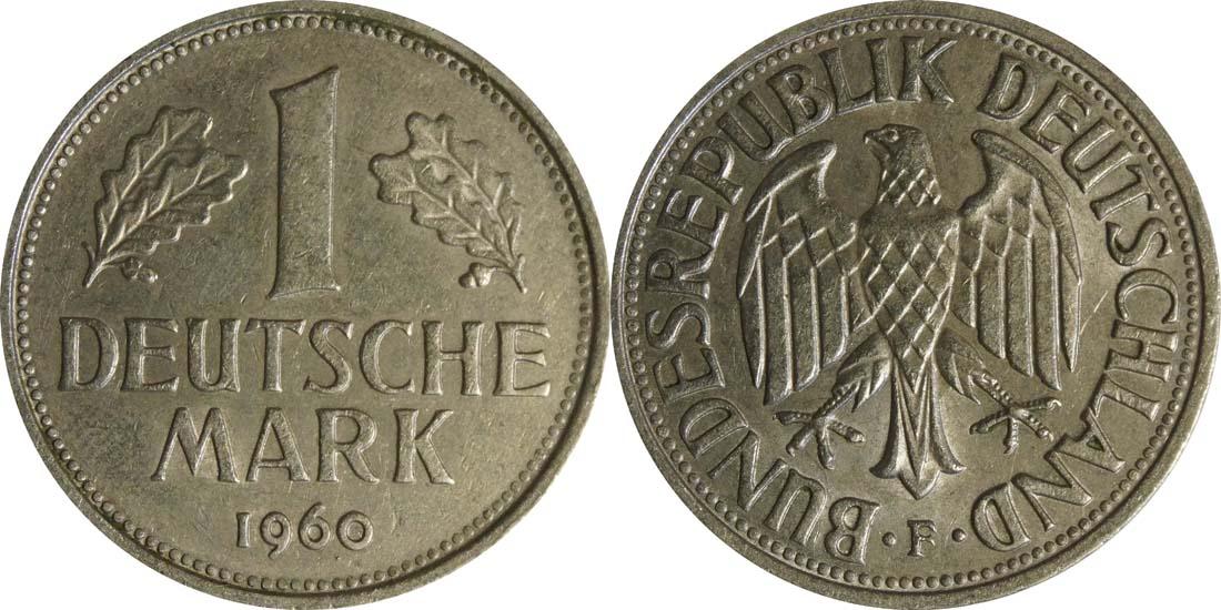 Lieferumfang:Deutschland : 1 DM Kursmünze  1960 vz.