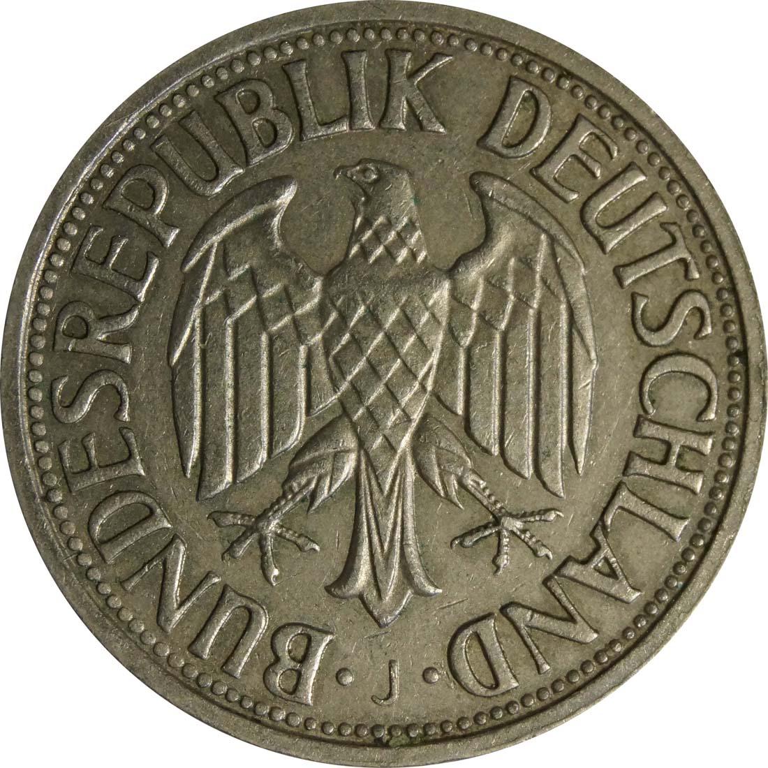 Rückseite:Deutschland : 1 DM Kursmünze  1960 Stgl.