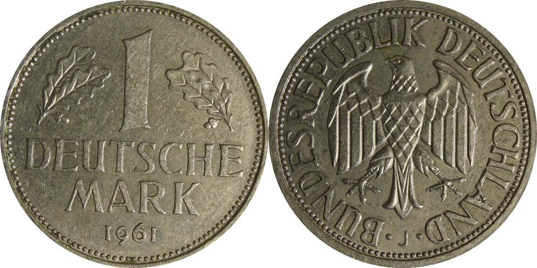 Deutschland : 1 DM Kursmünze  1961 vz.