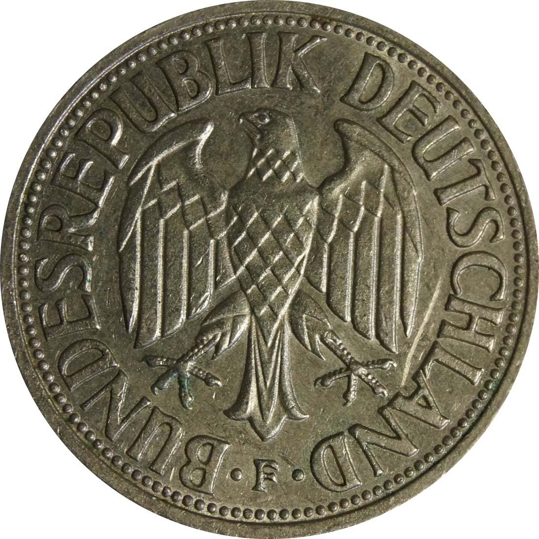 Rückseite:Deutschland : 1 DM Kursmünze  1962 vz.