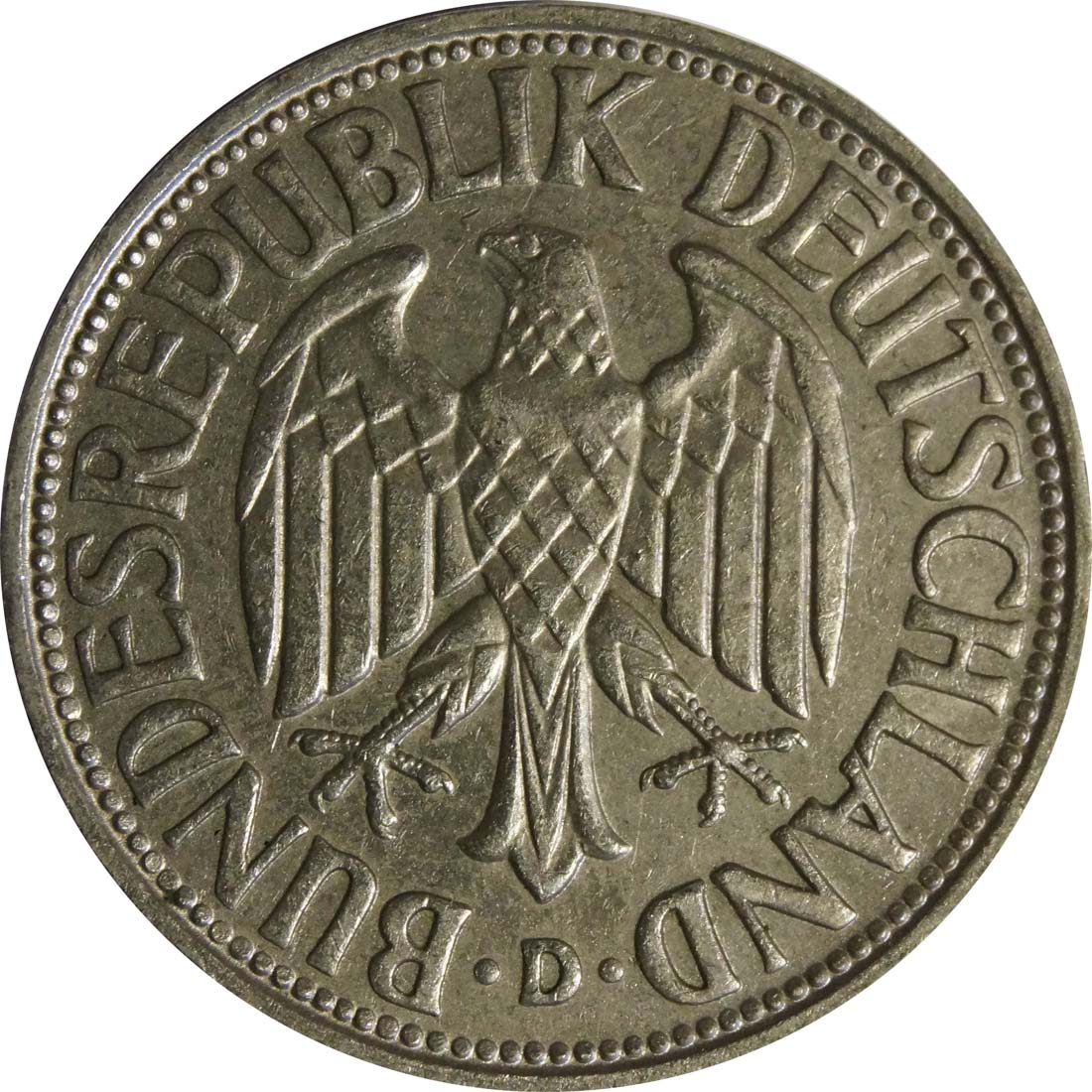 Rückseite:Deutschland : 1 DM Kursmünze  1964 vz/Stgl.