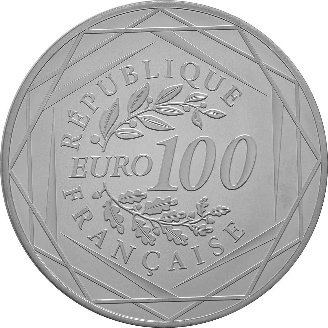 Rückseite:Frankreich : 100 Euro Marianne  2017 Stgl.