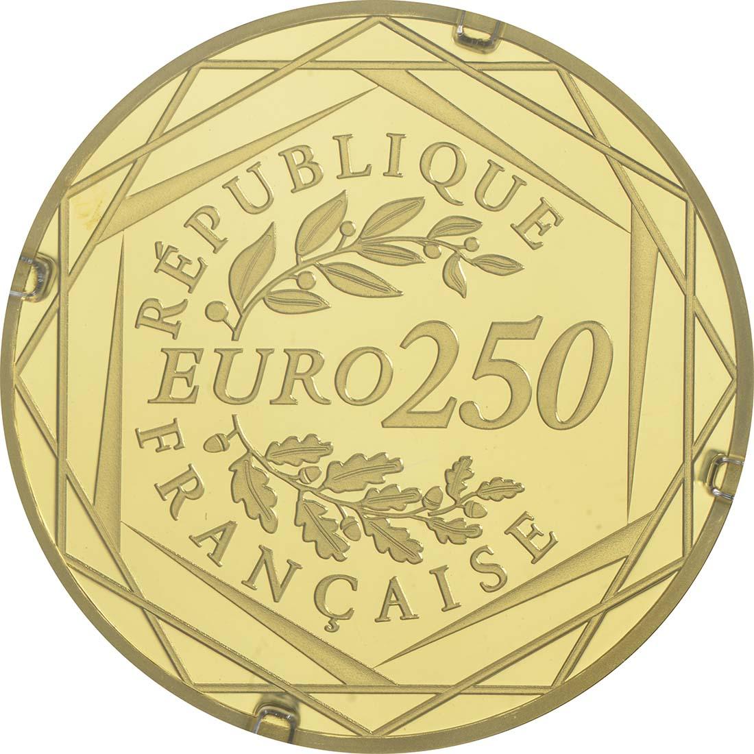 Rückseite:Frankreich : 250 Euro Marianne  2017 Stgl.