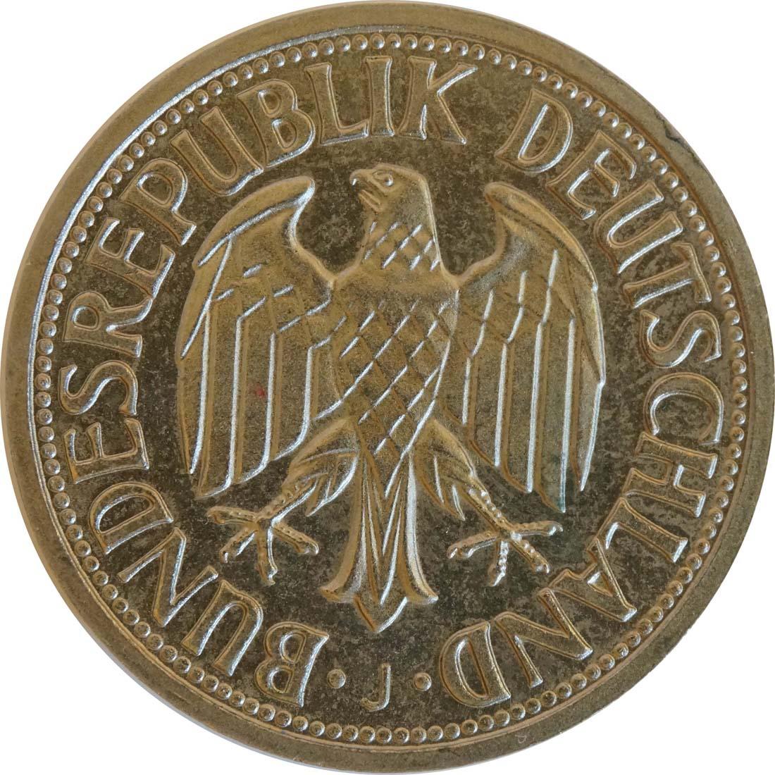 Rückseite:Deutschland : 1 DM Kursmünze  1965 Stgl.