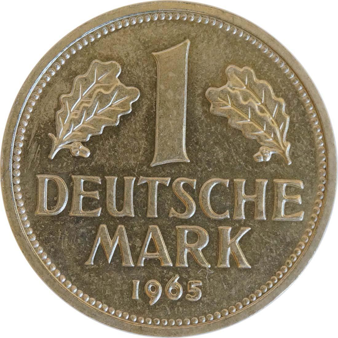 Vorderseite:Deutschland : 1 DM Kursmünze  1965 Stgl.