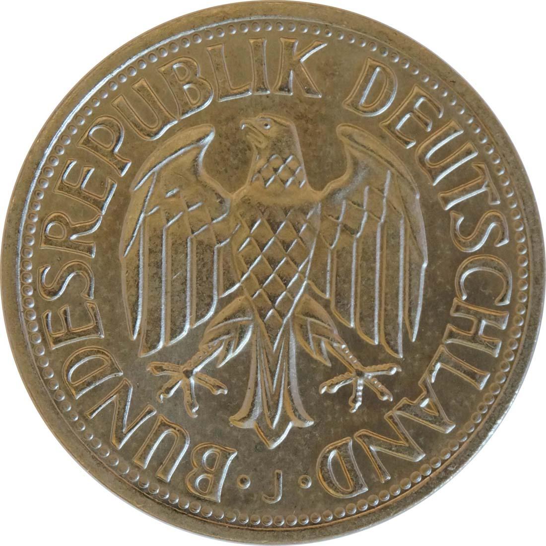 Rückseite :Deutschland : 1 DM Kursmünze  1966 Stgl.