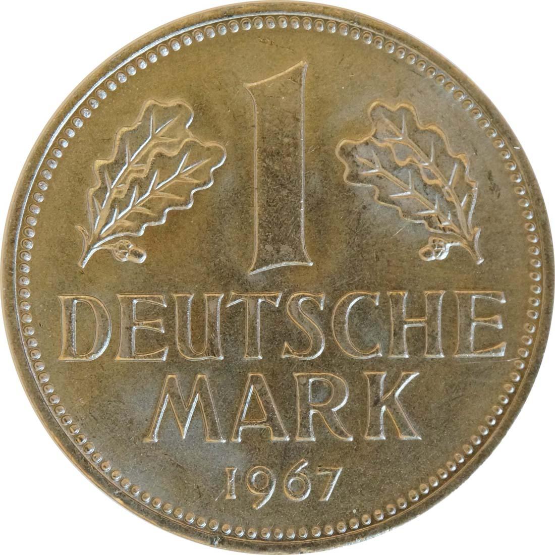 Vorderseite:Deutschland : 1 DM Kursmünze  1967 Stgl.
