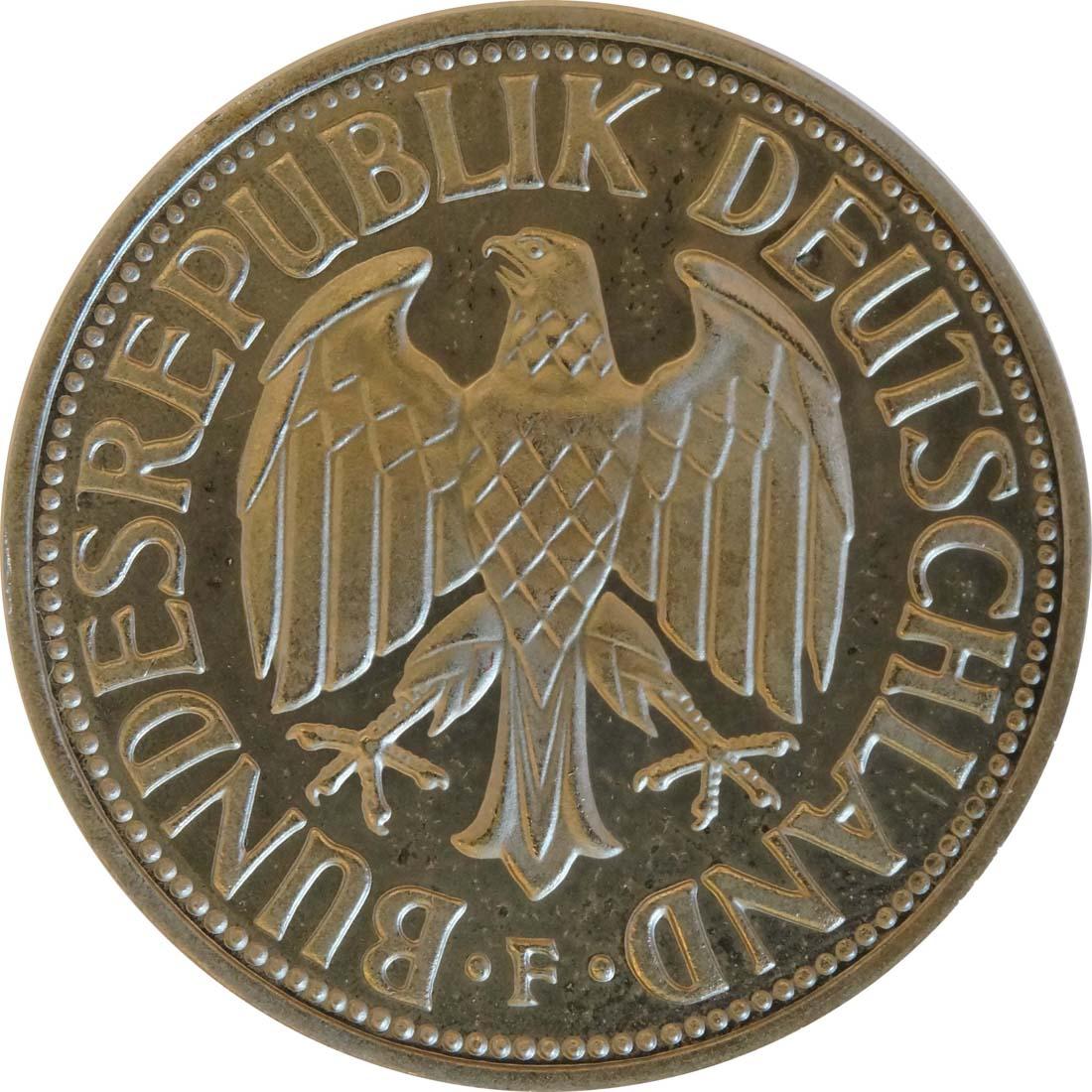 Rückseite:Deutschland : 1 DM Kursmünze -fein- 1967 Stgl.
