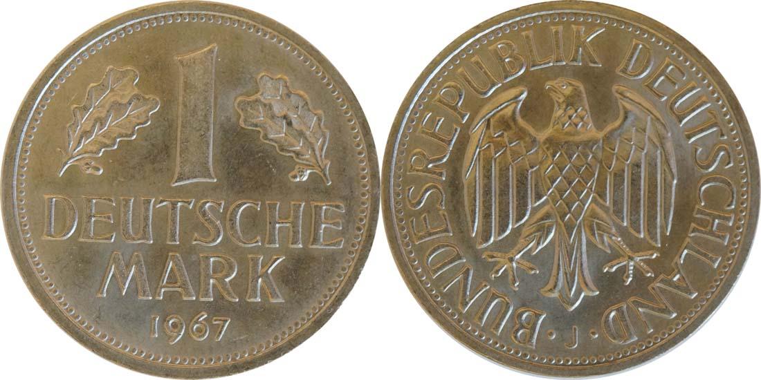 Deutschland : 1 DM Kursmünze  1967 Stgl.