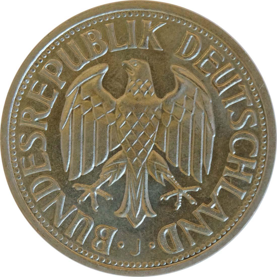 Rückseite :Deutschland : 1 DM Kursmünze -seltene Erhaltung- 1968 Stgl.