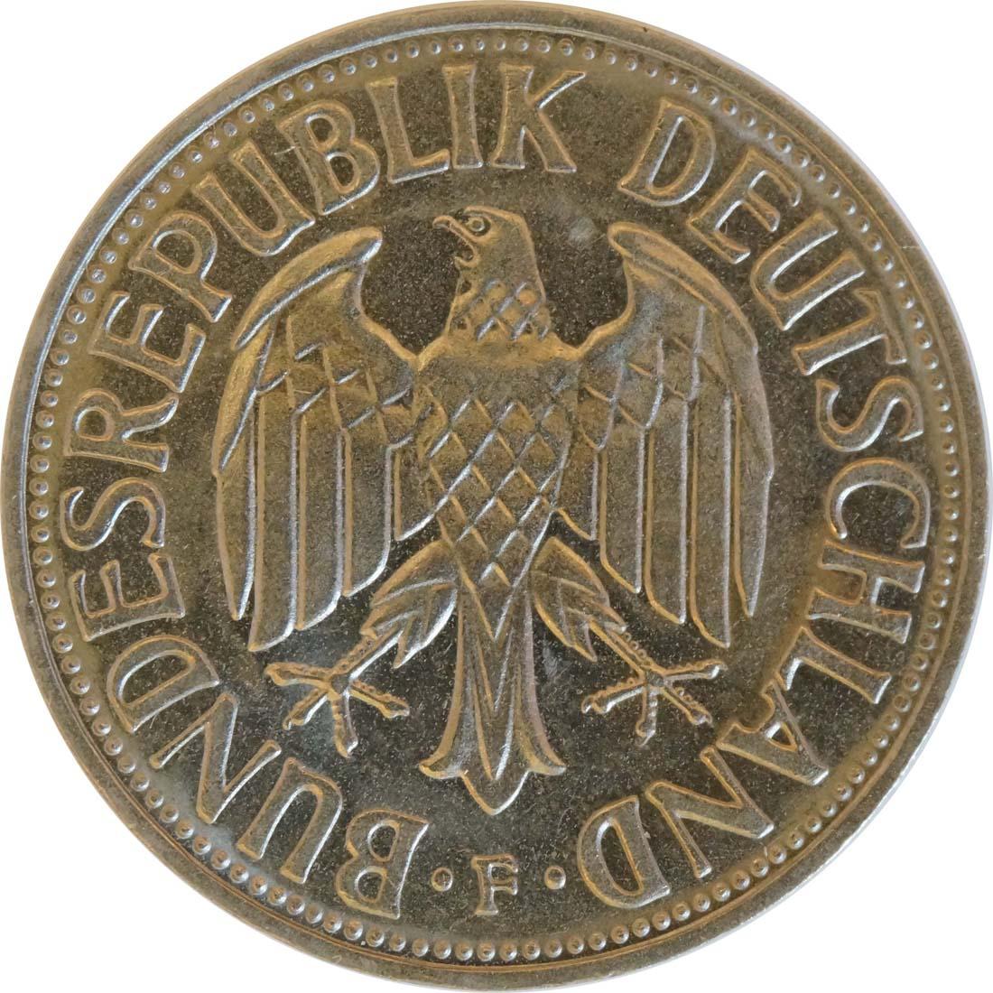 Rückseite:Deutschland : 1 DM Kursmünze  1969 vz/Stgl.