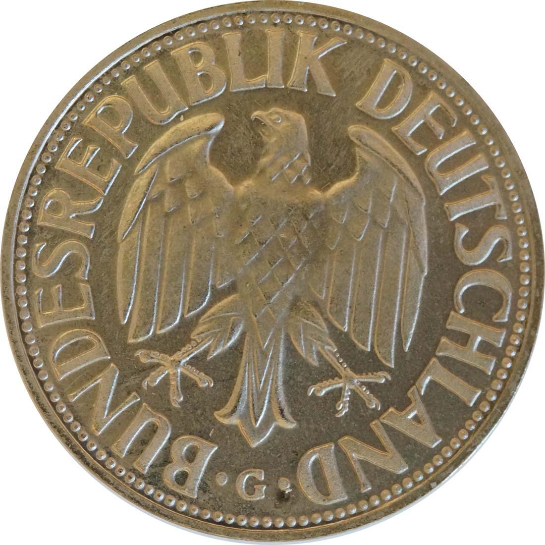 Rückseite:Deutschland : 1 DM Kursmünze  1969 PP