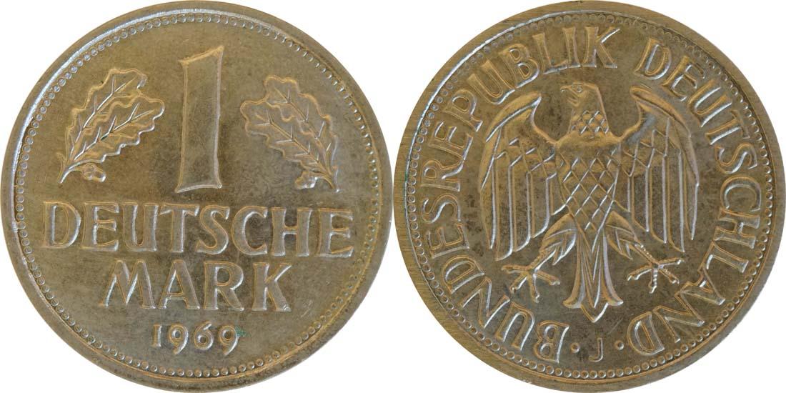 Deutschland : 1 DM Kursmünze  1969 Stgl.