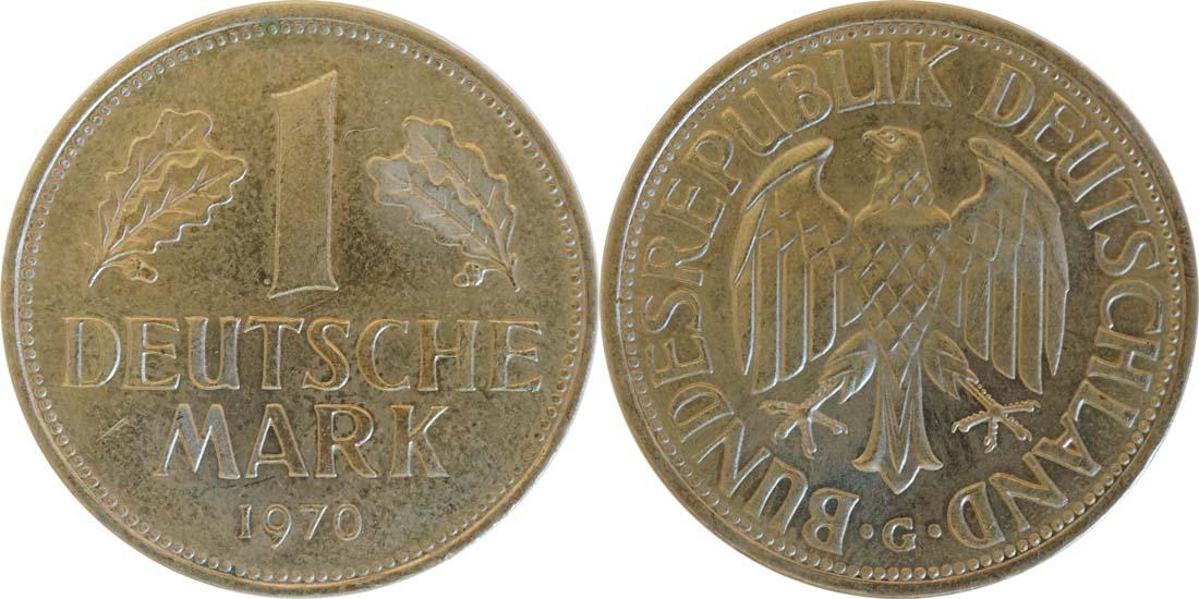 Deutschland : 1 DM Kursmünze  1970 Stgl.