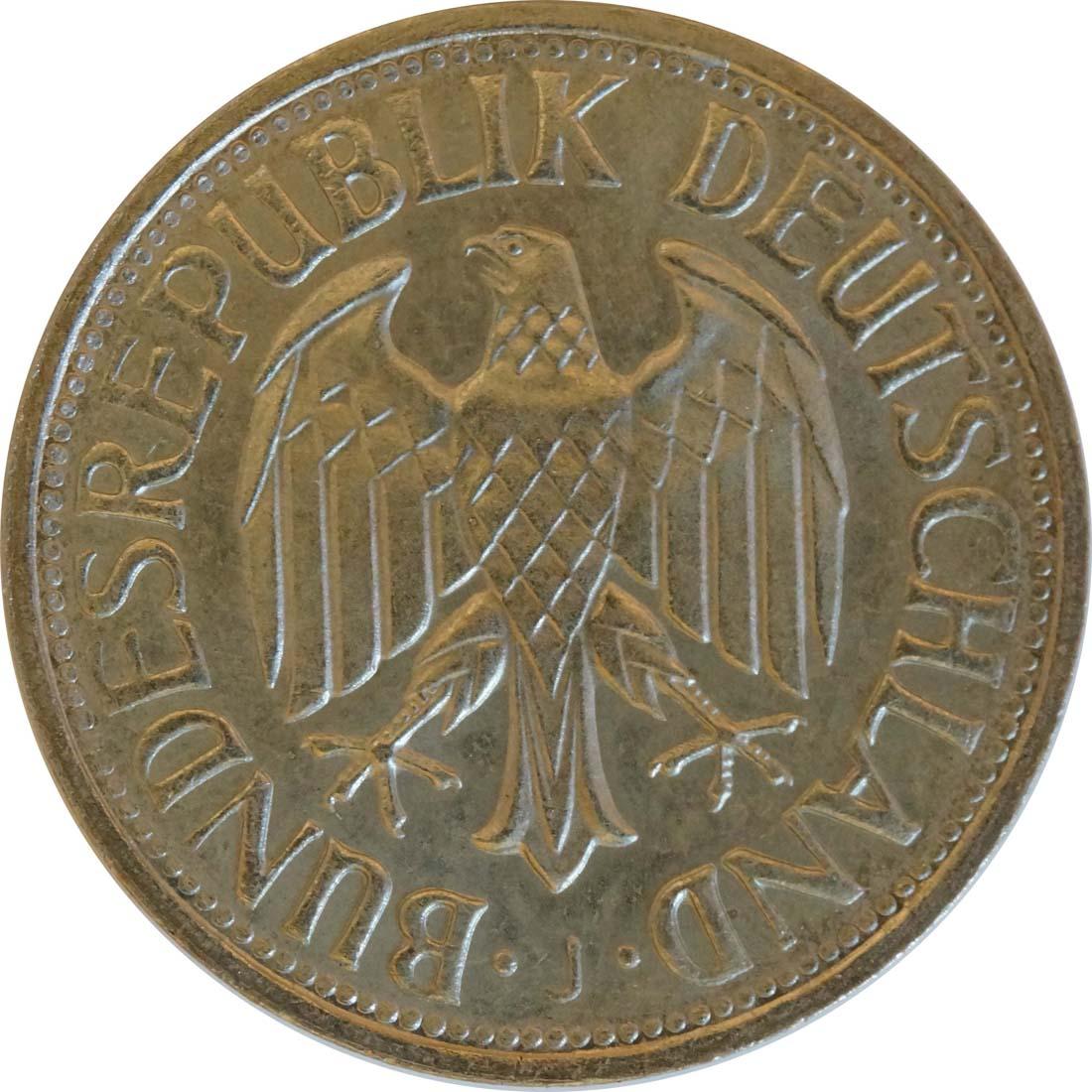 Rückseite:Deutschland : 1 DM Kursmünze  1970 Stgl.