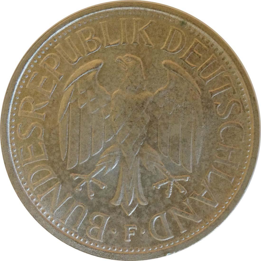 Rückseite:Deutschland : 1 DM Kursmünze  1972 Stgl.