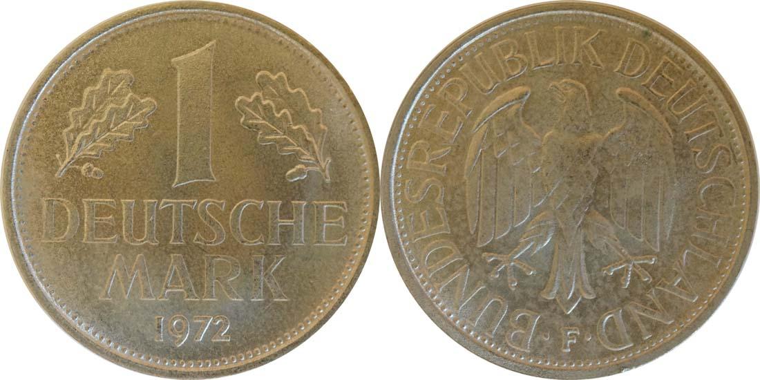 Deutschland : 1 DM Kursmünze  1972 Stgl.