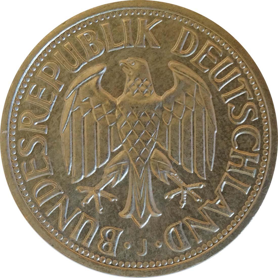 Rückseite:Deutschland : 1 DM Kursmünze  1973 Stgl.