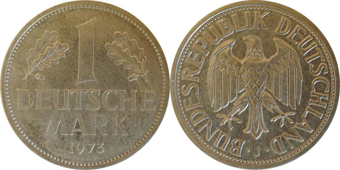 Deutschland : 1 DM Kursmünze  1973 Stgl.
