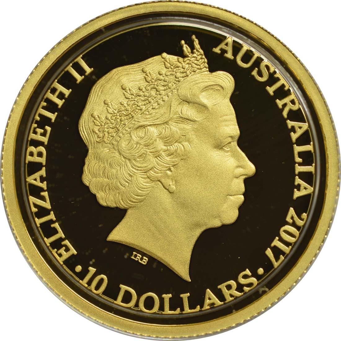 australien 10 dollar trans australian railway 2017 gold pp euro. Black Bedroom Furniture Sets. Home Design Ideas