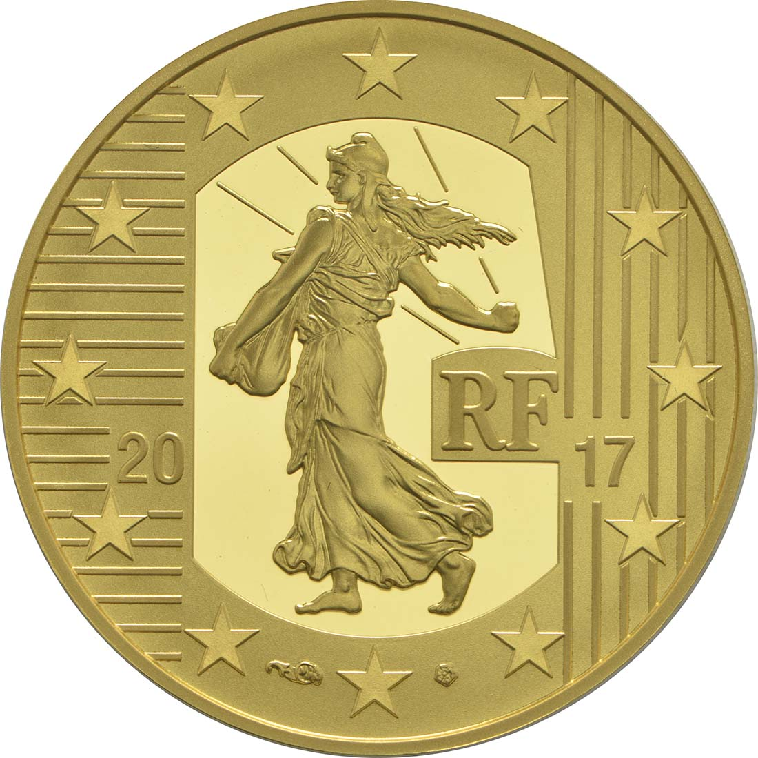 Rückseite:Frankreich : 50 Euro Louis d'or  2017 PP