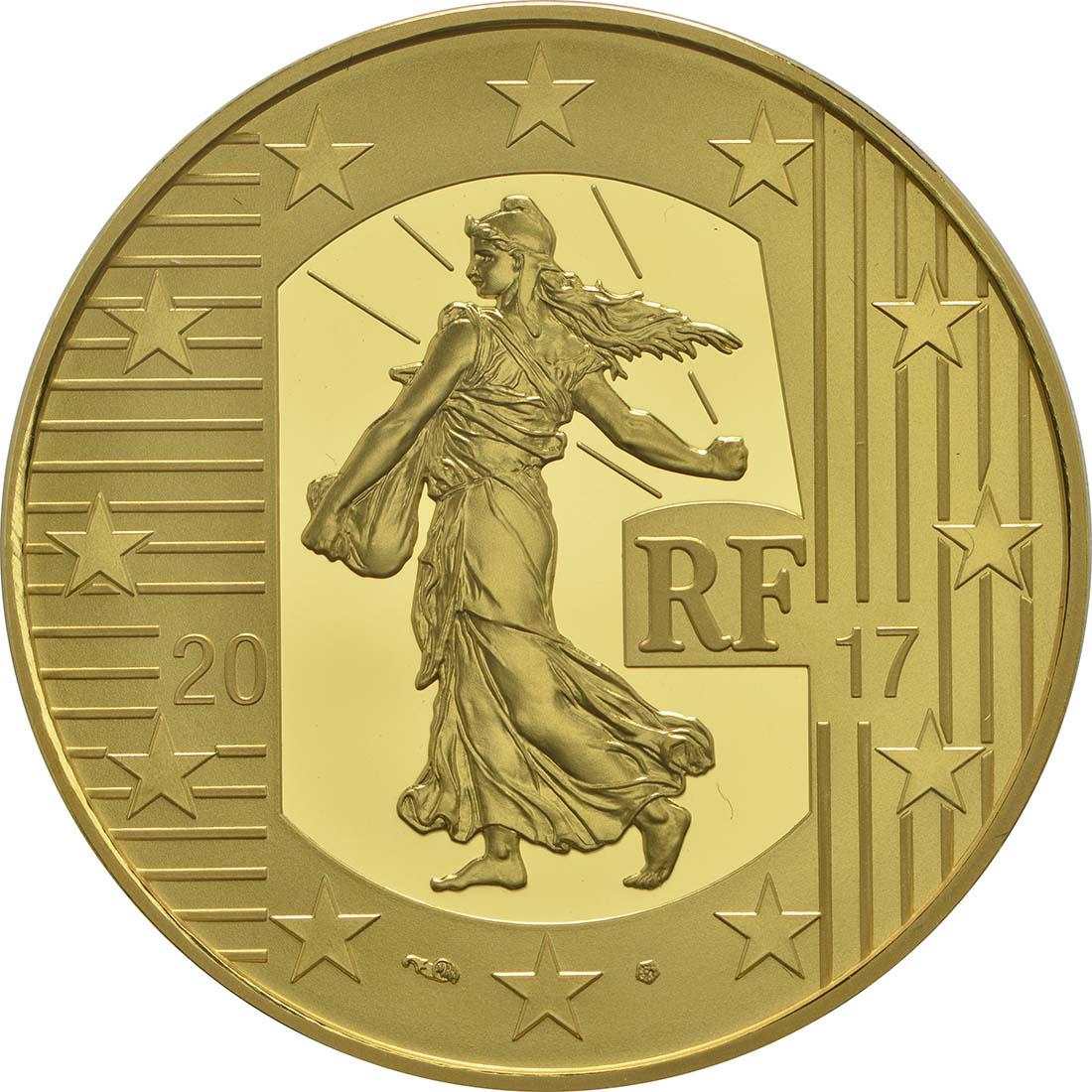 Rückseite:Frankreich : 100 Euro Louis d'or  2017 PP