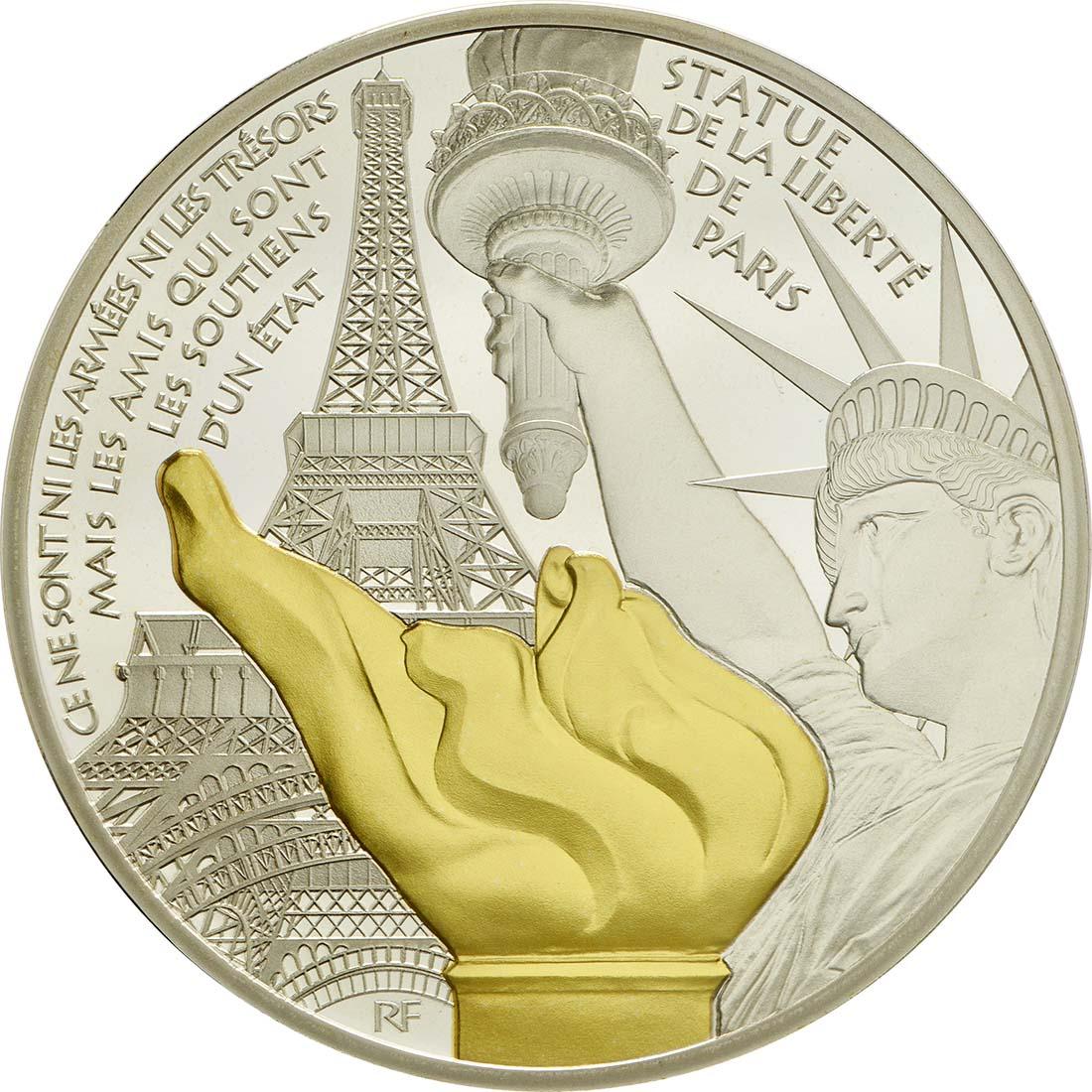 Vorderseite:Frankreich : 10 Euro Freiheitsstatue  2017 PP