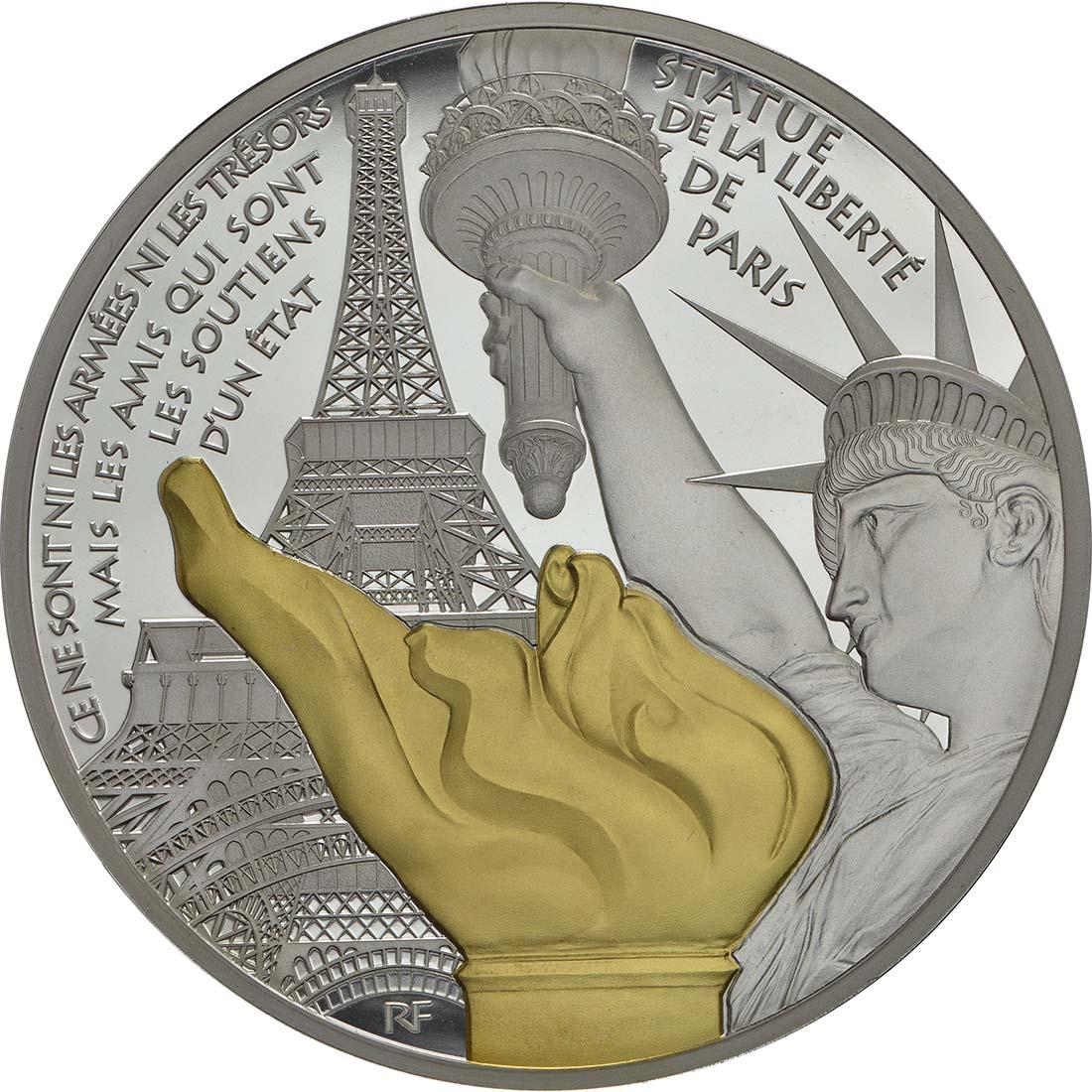 Vorderseite :Frankreich : 50 Euro Freiheitsstatue  2017 PP