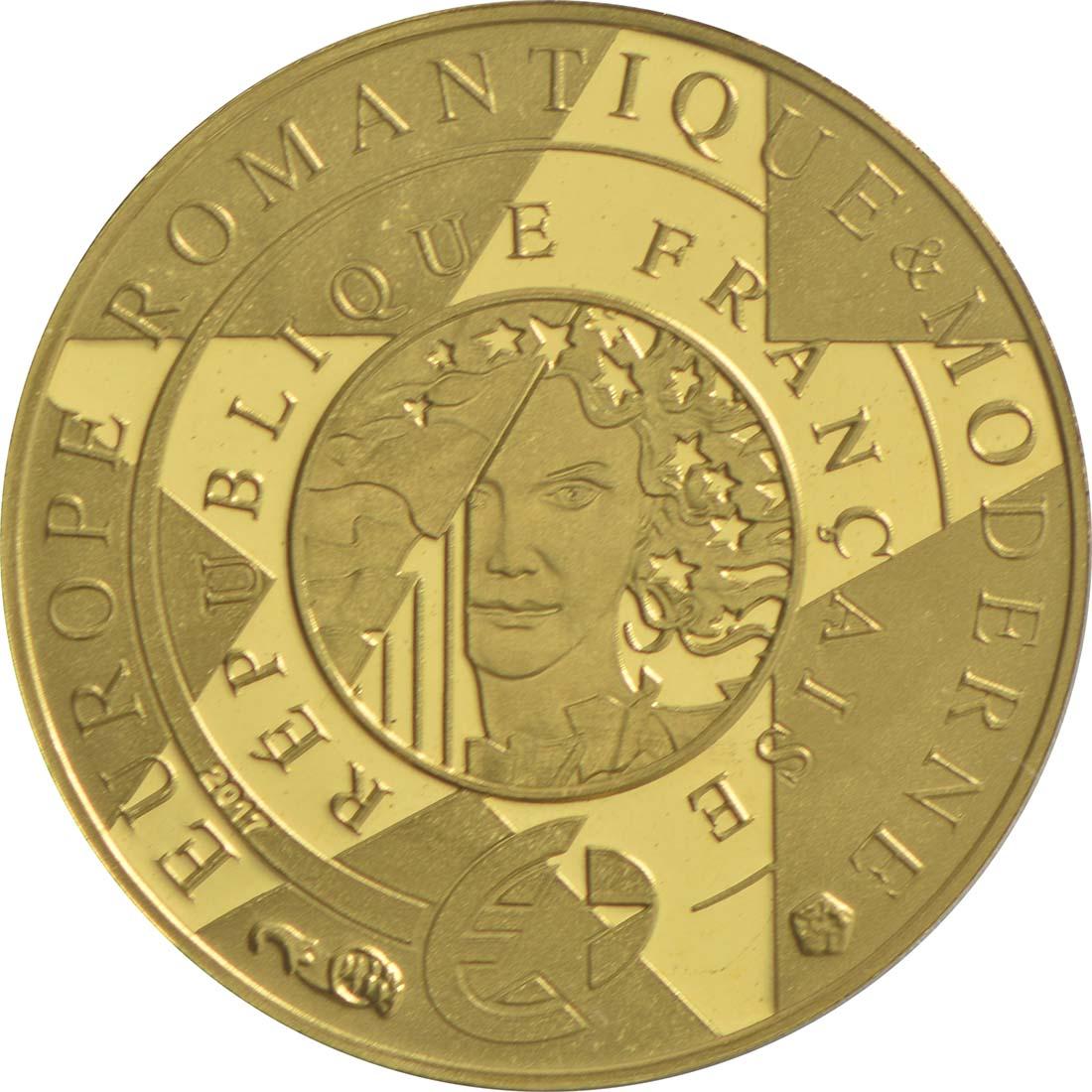 Rückseite:Frankreich : 5 Euro Zeitalter des Eisens und des Glases  2017 PP