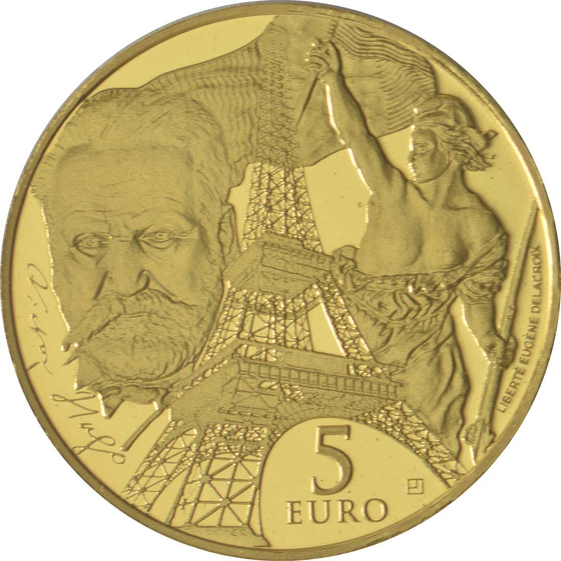 Vorderseite:Frankreich : 5 Euro Zeitalter des Eisens und des Glases  2017 PP