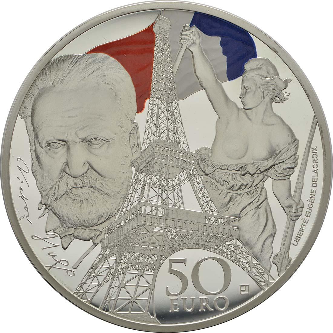 Vorderseite :Frankreich : 50 Euro Zeitalter des Eisens und des Glases  2017 PP