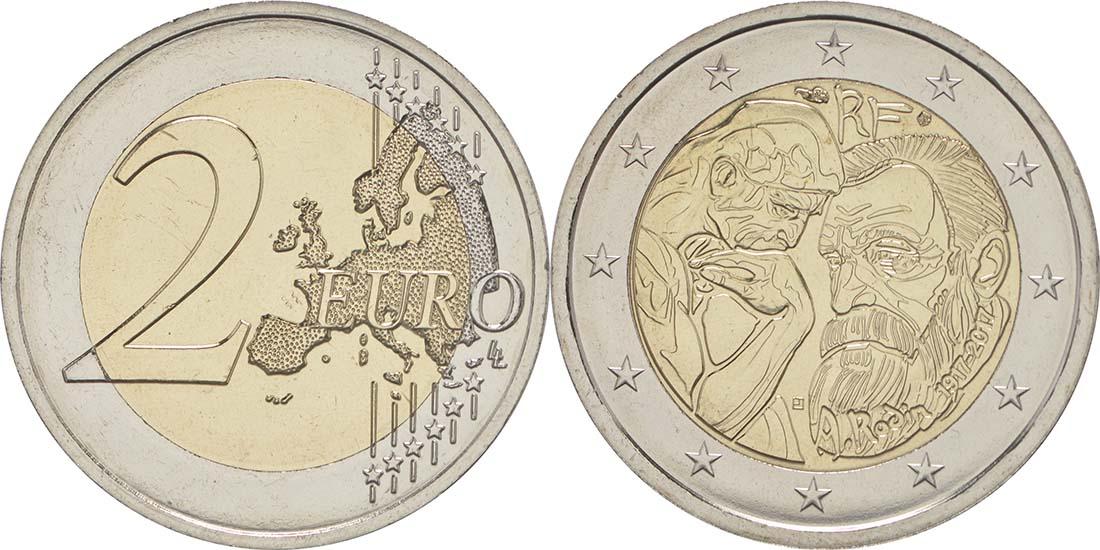 Frankreich : 2 Euro Rodin  2017 bfr