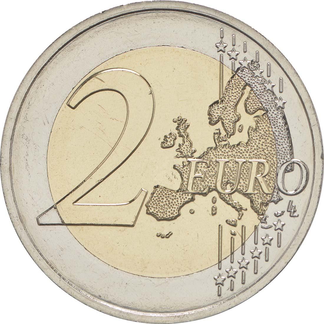 Vorderseite :Frankreich : 2 Euro Rodin  2017 bfr