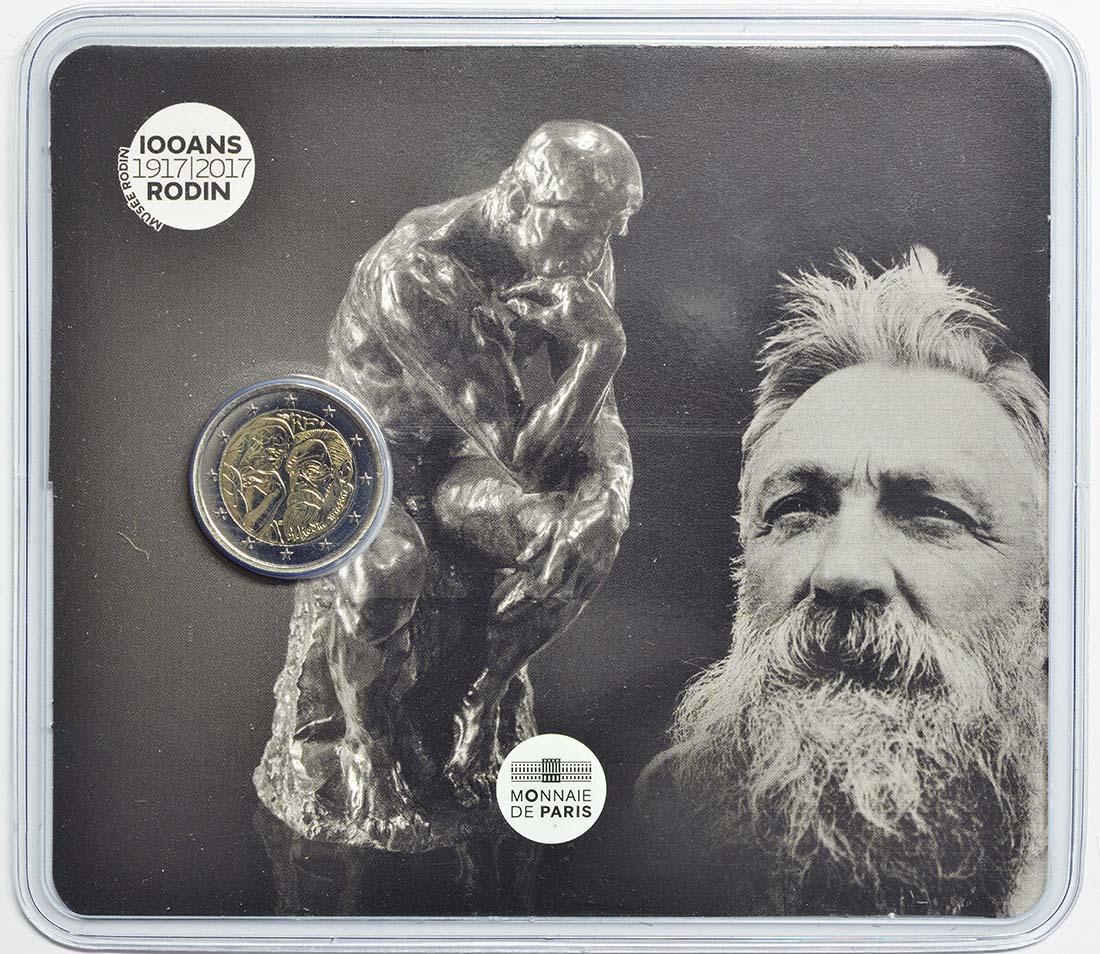 Lieferumfang:Frankreich : 2 Euro Rodin  2017 Stgl.