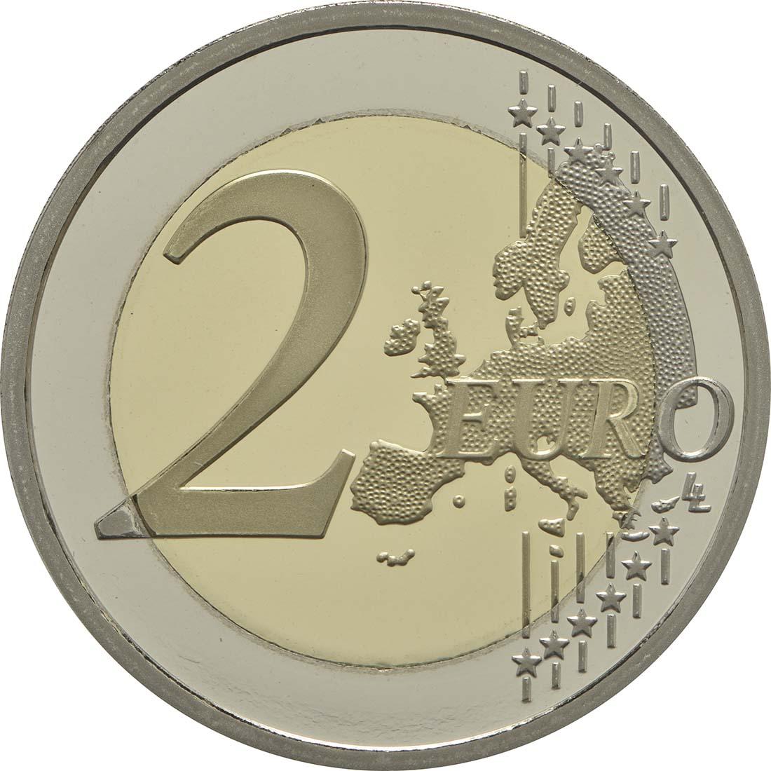 Vorderseite:Frankreich : 2 Euro Rodin  2017 PP