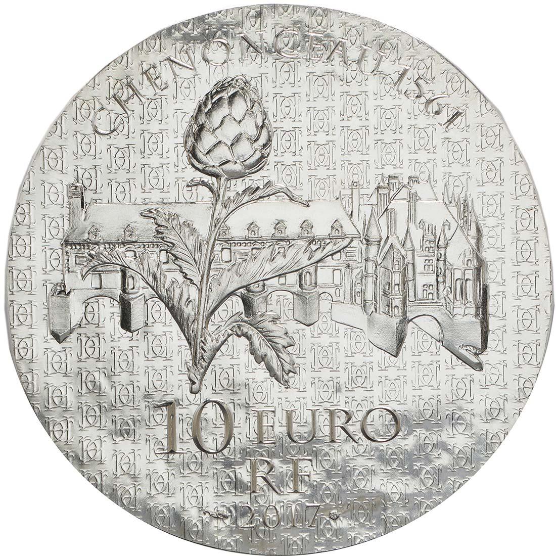 Rückseite :Frankreich : 10 Euro Katharina von Medici  2017 PP