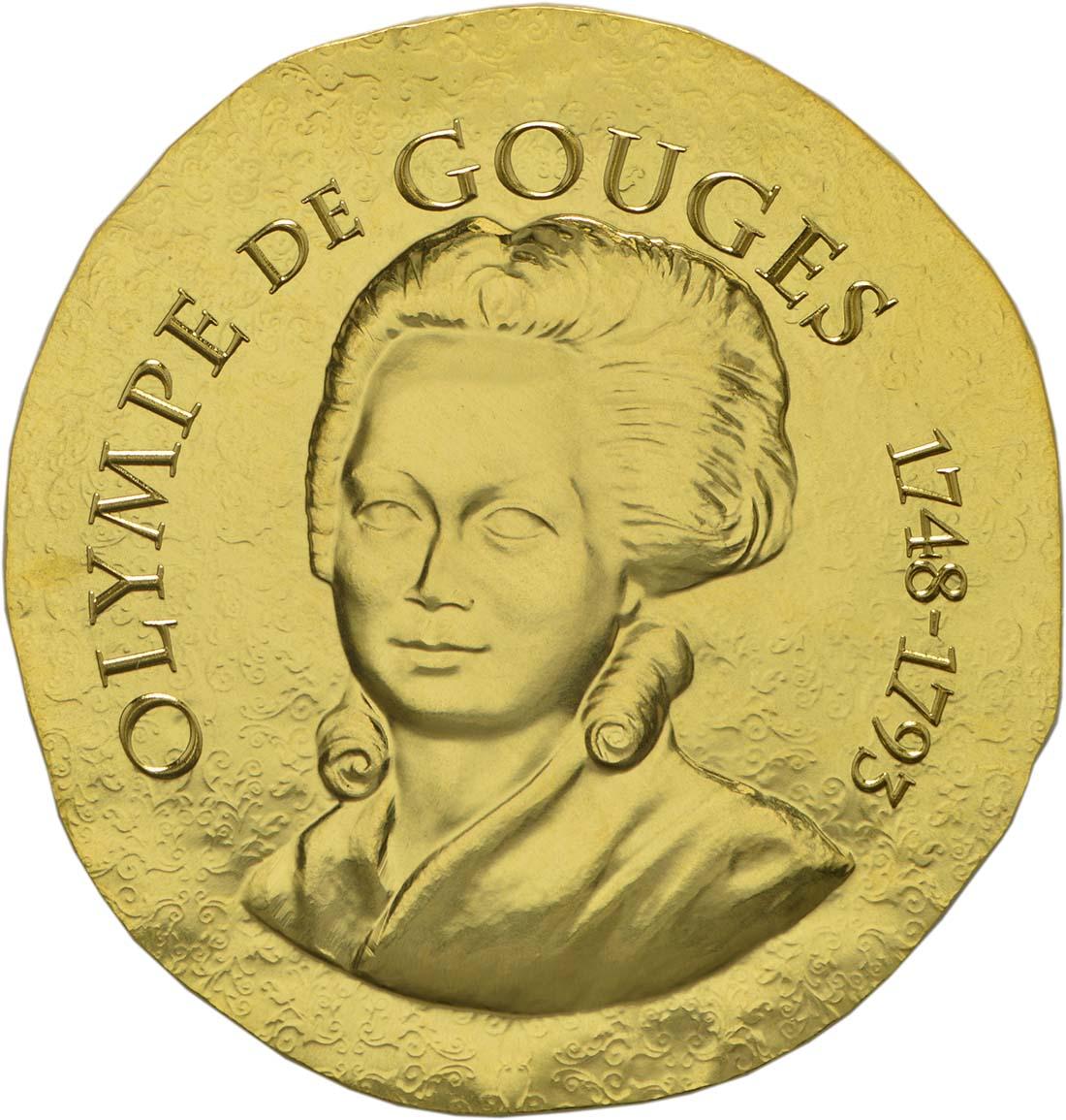 Vorderseite :Frankreich : 50 Euro Olympe de Gouges  2017 PP