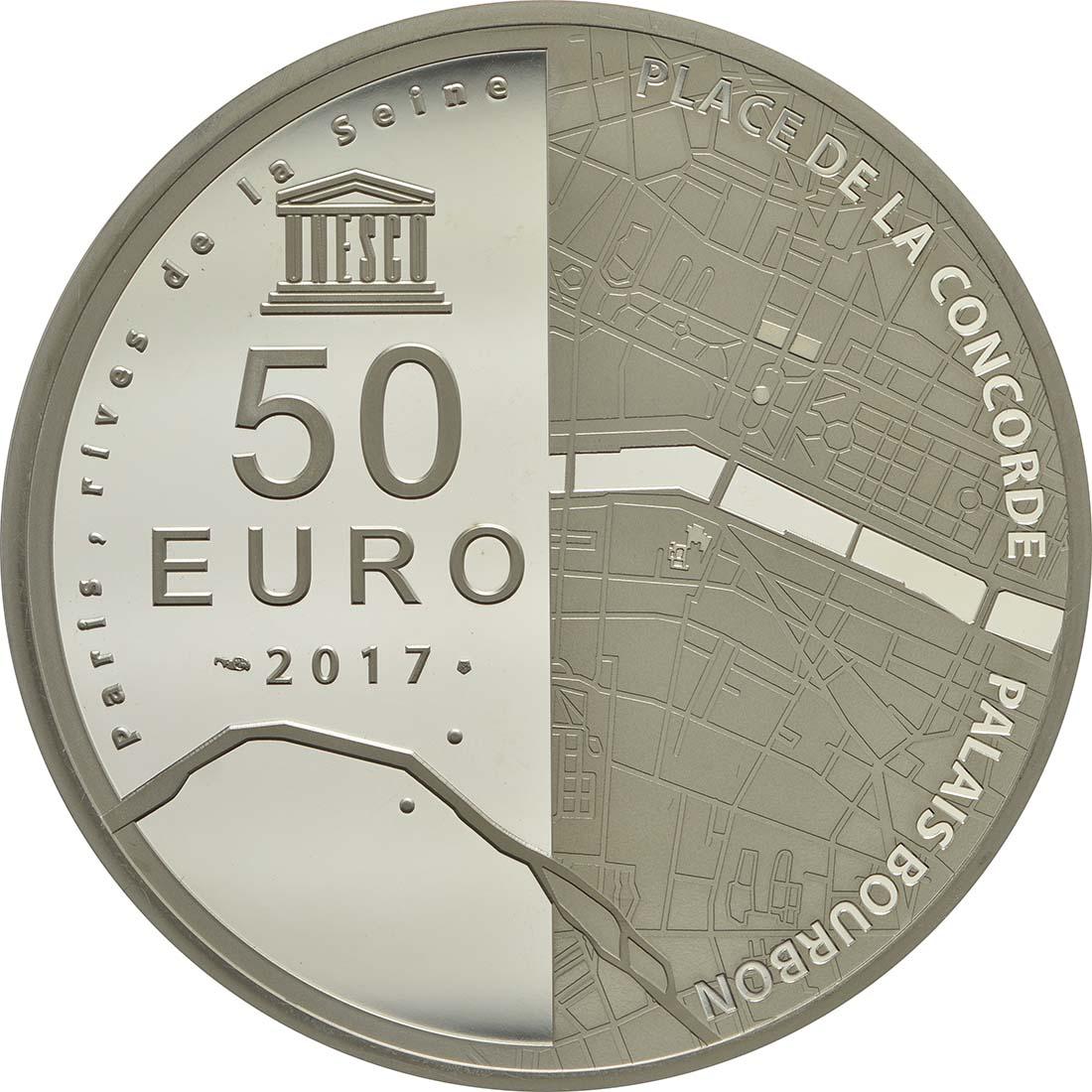 Rückseite :Frankreich : 50 Euro Ufer der Seine  2017 PP