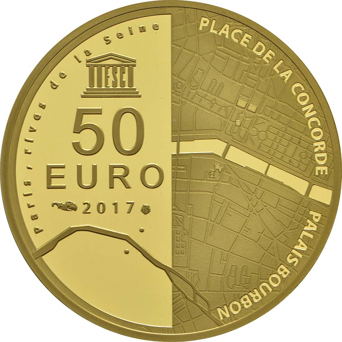 Rückseite:Frankreich : 50 Euro Ufer der Seine  2017 PP