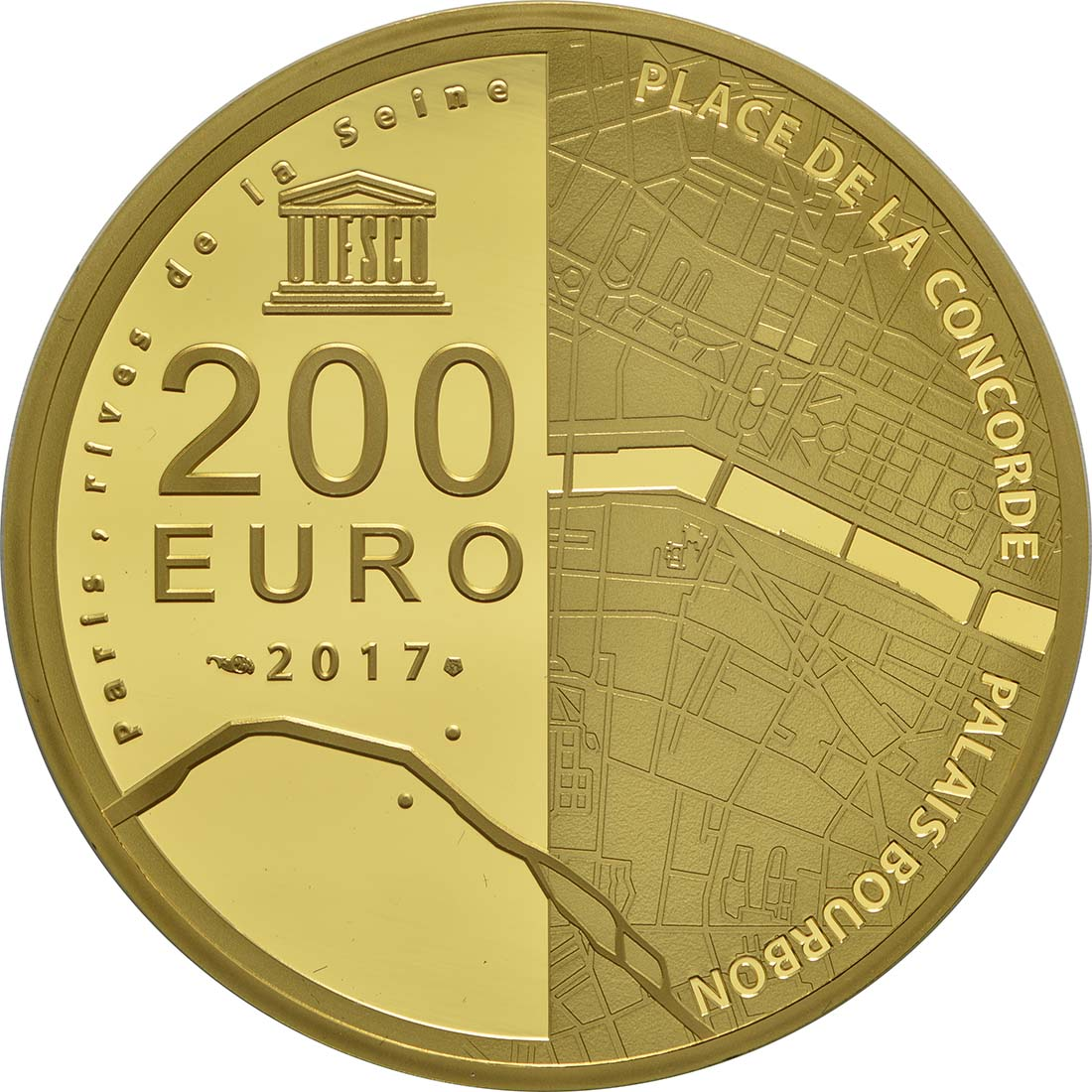 Rückseite:Frankreich : 200 Euro Ufer der Seine  2017 PP