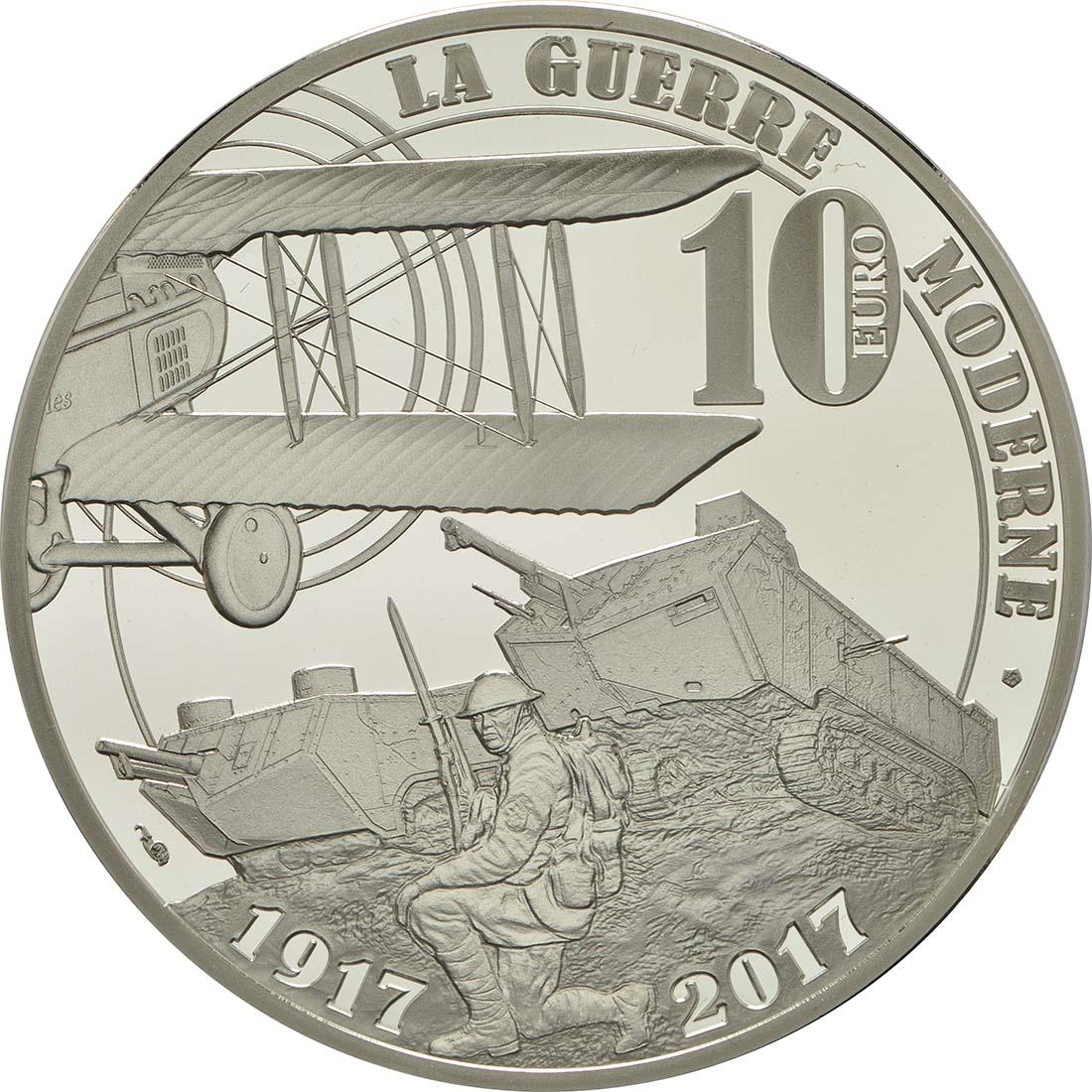 Rückseite :Frankreich : 10 Euro Erster Weltkrieg  2017 PP